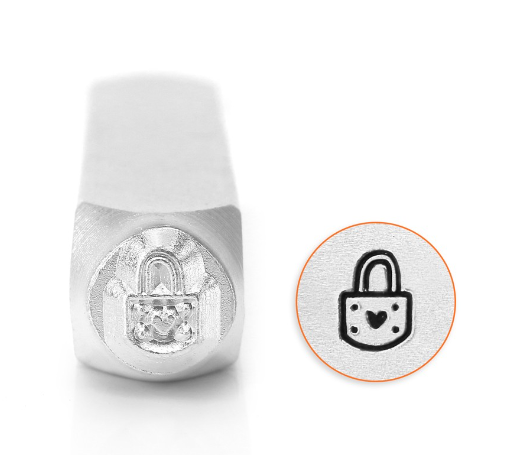 Padlock Heart<br>Design Stamp<br>6mm