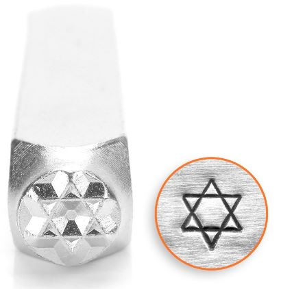 Star of David<br>Design Stamp<br>6mm