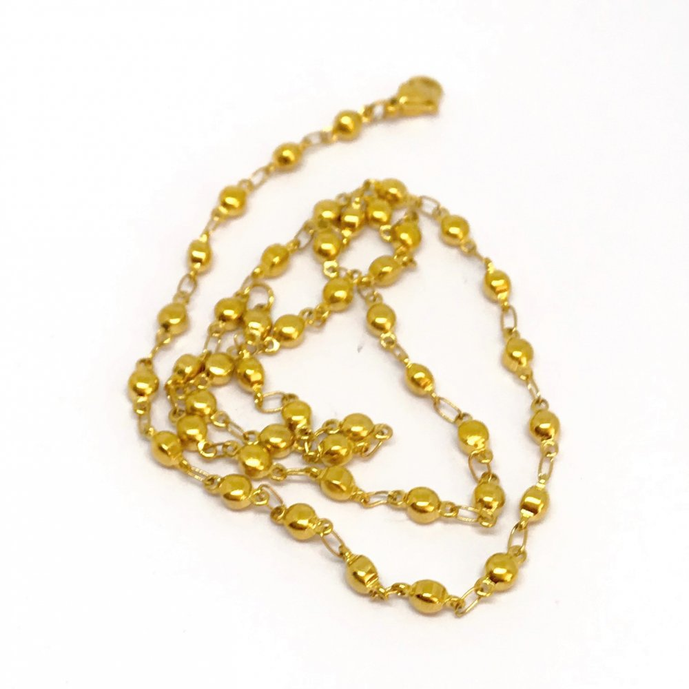 Flattened Ball Chain<br>Stainless Steel - 4mm<br>45cm