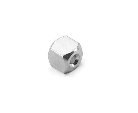 3D Cube + Hole<br>Aluminium Stamping Blank<br>6mm