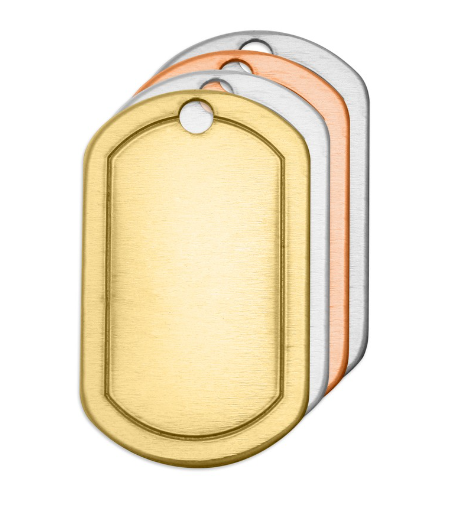 Border Dog Tag<br>Premium Stamping Blank<br>32mm x 19mm