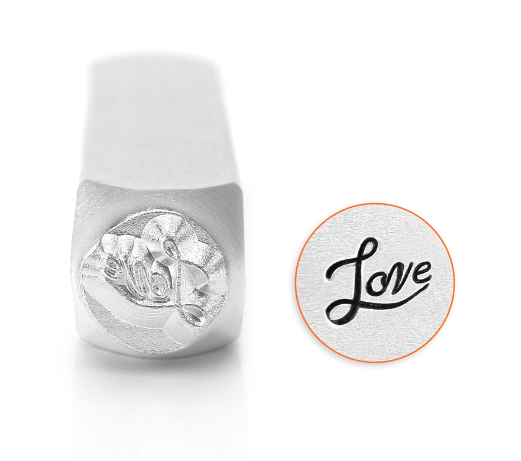 Love Fancy Script<br>Design Stamp<br>6mm