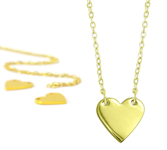 Personal Impressions<br>Heart - 1 Piece<br>Gold Plated