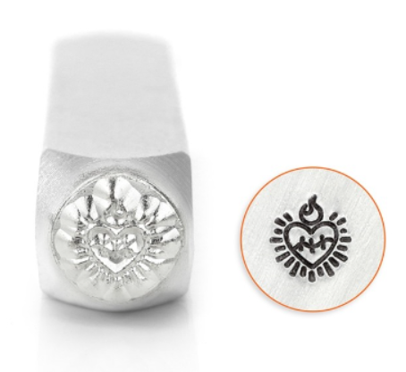 Sacred Heart<br>Design Stamp<br>6mm