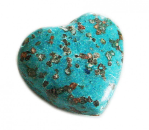 Heart Howlite Bead<br>Blue Colour<br>25mm