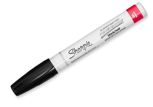Paint Marker<br>Oil Based<br>Extra Fine Black
