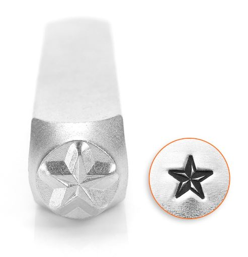 Nautical Star<br>Design Stamp<br>6mm