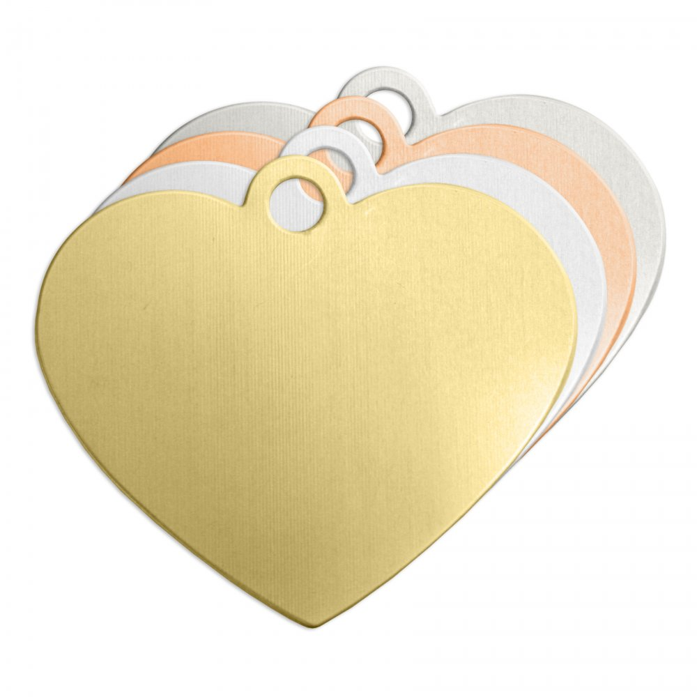 Heart + Ring Large<br>Stamping Blank<br>47mm
