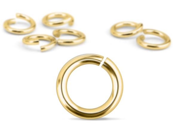 Gold Plated Jump Rings<br>20 Gauge-7mm<br>90 Pack