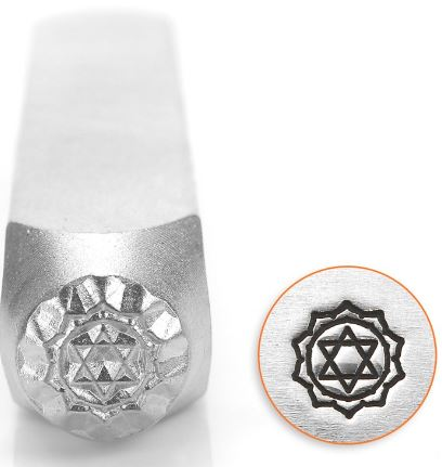 Heart Chakra<br>Design Stamp<br>6mm