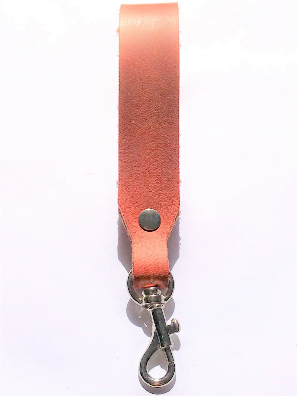Trigger Hook Key Ring<br>Terracotta Leather<br>25mm x 140mm