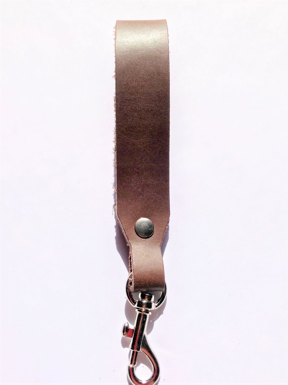Trigger Hook Key Ring<br>Bark Leather<br>25mm x 140mm