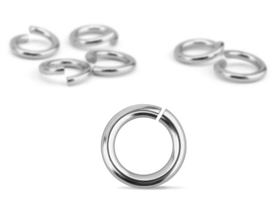 Silver Plated Jump Rings<br>20 Gauge-4mm<br>200 Pack