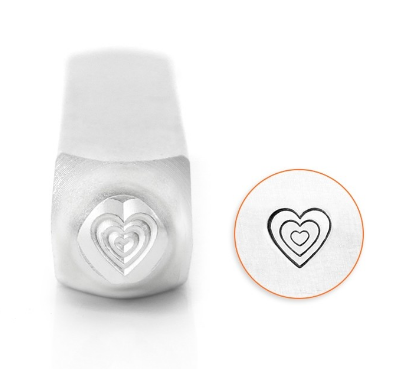 Multi Heart<br>Design Stamp<br>6mm