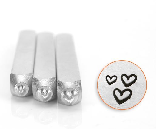 Hearts<br>Design Stamps<br>3 Designs: 1.5mm/2mm/3mm