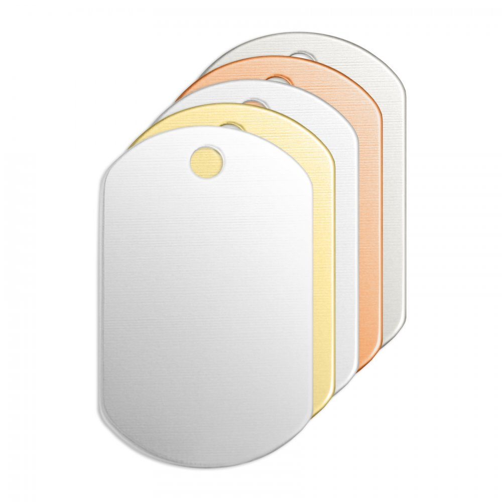 Dog Tag<br>Premium Stamping Blank<br>32mm x 19mm