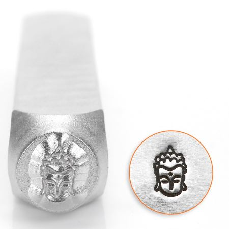 Buddha Head<br>Design Stamp<br>6mm