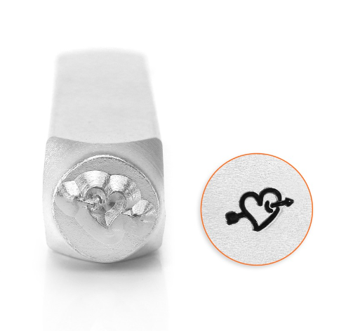 Heart with Arrow<br>Design Stamp<br>6mm
