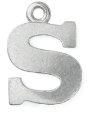 Letter Charm S<br>Pewter Stamping Blank<br>19mm
