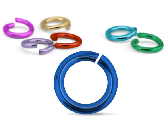 Mixed Colour Jump Rings<br>16 Gauge-6mm<br>50 Pack