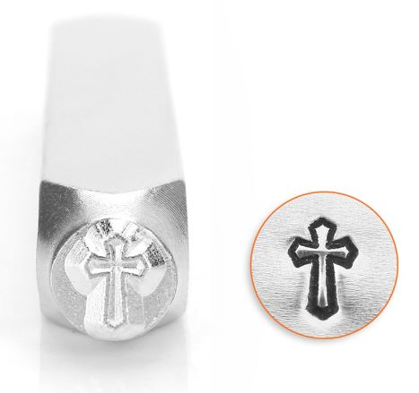 Cross Outline<br>Design Stamp<br>6mm