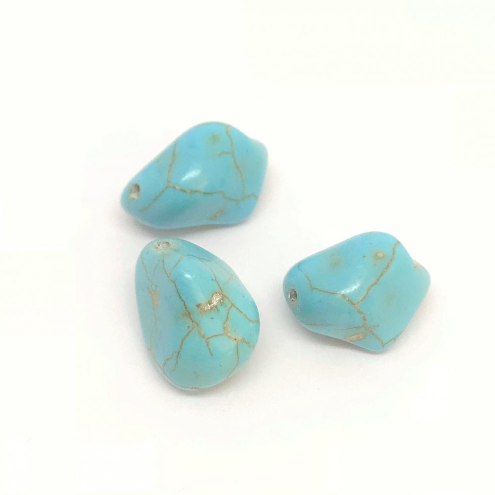 Pebble Howlite Bead<br>Assorted Colours<br>Small (15mm)