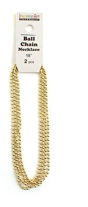 Ball Chain<br>Brass<br>2 Pack - 45cm