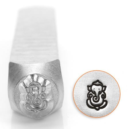 Ganesha<br>Design Stamp<br>6mm