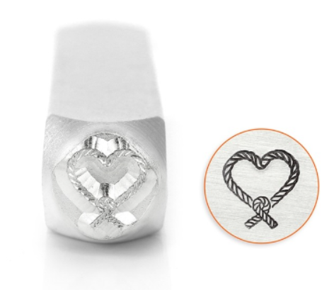 Knotted Heart<br>Design Stamp<br>9.5mm