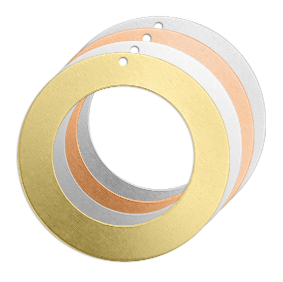 Washer + Hole<br>Premium Stamping Blank<br>38mm
